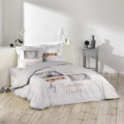 Parure de lit coton personnes 240 x 220 cm Romantic night