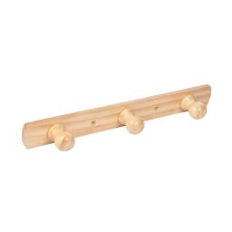 patere a fixer bois 3 boutons l38cm naturel