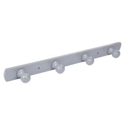 patere a fixer bois 4 boutons l50cm laqué gris