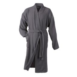 Peignoir kimono taille unique eponge unie vitamine Anthracite