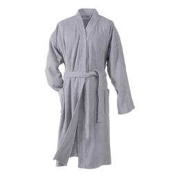 Peignoir kimono taille unique eponge unie vitamine Gris