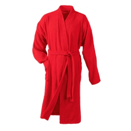 Peignoir kimono taille unique eponge unie vitamine Rouge