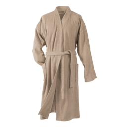 Peignoir kimono taille unique eponge unie vitamine Taupe