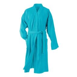Peignoir kimono taille unique eponge unie vitamine Turquoise