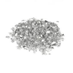 pépites de verre décoratives effet miroir - argent - 250grs