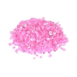 pépites de verre décoratives effet miroir - rose - 250grs