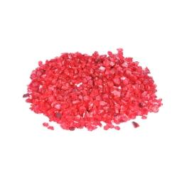 pépites de verre décoratives effet miroir - rouge - 250grs