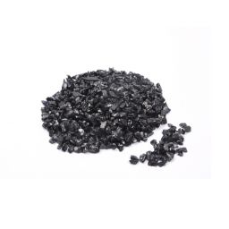 pepites de verre decoratives noir 630gr - env. 2-5mm