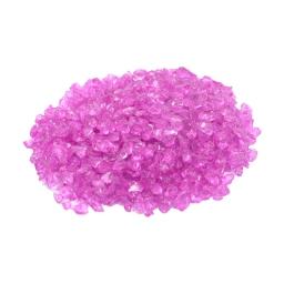 pepites de verre decoratives rose 630gr - env. 2-5mm