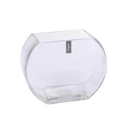 photophore arrondi verre transparent 13.5*9*h15.5cm