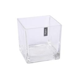 photophore carré verre transparent 12.5*12.5*h12.5cm