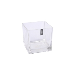 photophore carré verre transparent 8*8*h8cm