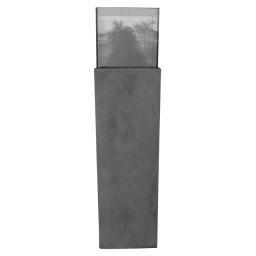 photophore colonne base fibercement h120cm gris effet beton