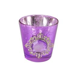 photophore deco diamant ø5*h6cm - violet