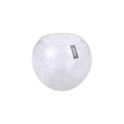 photophore rond verre craquelé transparent h12*ø10cm