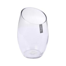 photophore verre biseauté transparent h24*ø13.5cm