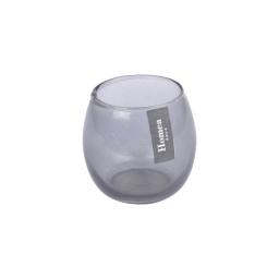 photophore verre fumé ø base 4*h6.2cm