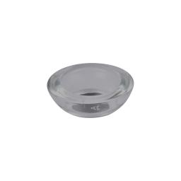 photophore verre fumé pour bougie chauffe-plat ø7.5*h2.5cm