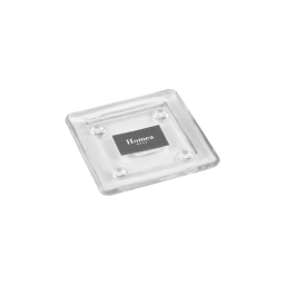 photophore verre transparent carré 11*11**h1.5cm