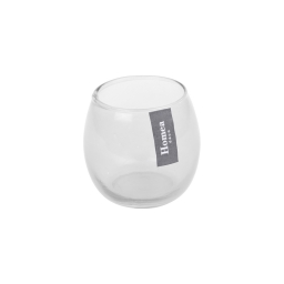 photophore verre transparent ø base 5.4*h6.2cm