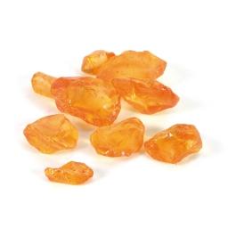 pierres de verre 650gr orange-taille bouteille 6.5x6.5x16cm