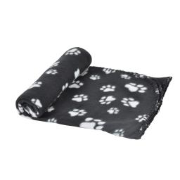 plaid 100% polyester 100*70cm - design pattou coloris noir pour animaux