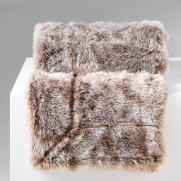 Plaid 125 x 150 cm imitation fourrure antartic Choco