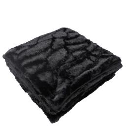 Plaid 125 x 150 cm imitation fourrure ecaille Noir