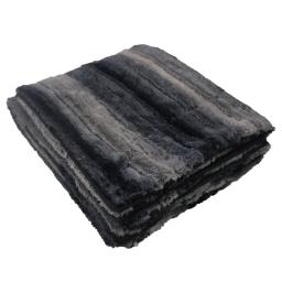 Plaid 125 x 150 cm imitation fourrure noli Noir