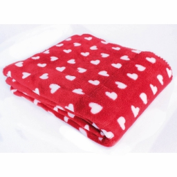 Plaid 127 x 152 cm coral imprime sweet lovely Rouge