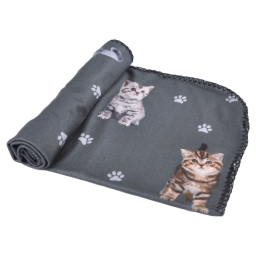 plaid chat 100% polyester 100*70cm - design kitty