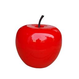 pomme en polyrésine ø30cm laquée rouge