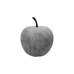 pomme en résine ø16cm beige effet beton