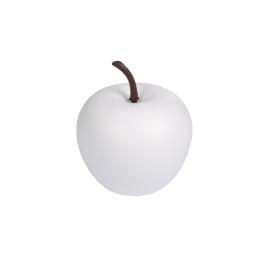 pomme en résine ø16cm blanc mat
