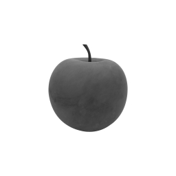 pomme en résine ø16cm gris effet beton