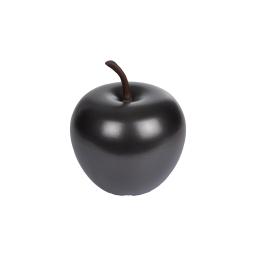 pomme en résine ø16cm noir mat