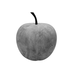 pomme en résine ø25.5cm beige effet beton