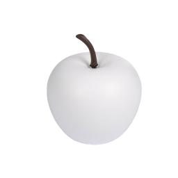 pomme en résine ø25.5cm blanc mat