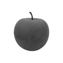 pomme en résine ø25.5cm gris effet beton