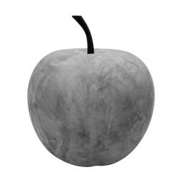 pomme en résine ø34.5cm beige effet beton