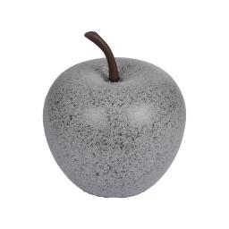 pomme en résine ø34.5cm gris clair moucheté