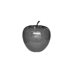pomme polyresine 25*h23cm gris