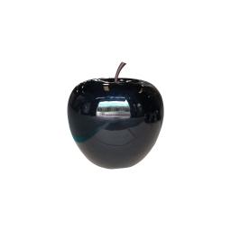 pomme polyresine 25*h23cm noir