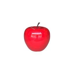 pomme polyresine 25*h23cm rouge