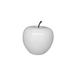 pomme polyresine 35*h30cm blanc