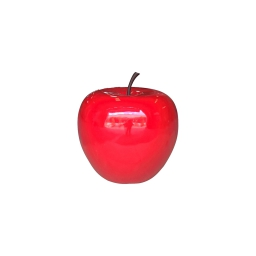 pomme polyresine 35*h30cm rouge