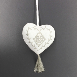 Pompon 10 x 10 cm lin romance Naturel/Lin