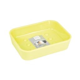 Porte-savon 2.3 x 11.9 x 8.9 cm plastique vitamine  effet soft touch Anis