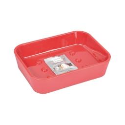 Porte-savon effet soft touch  douceur d'interieur theme vitamine Rouge