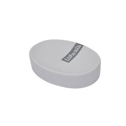 porte-savon effet soft touch theme hanoi gris - ushuaia